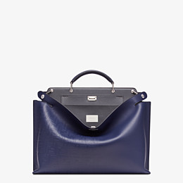 FENDI PEEKABOO ICONIC ESSENTIAL - Blue calfskin bag - view 1 thumbnail
