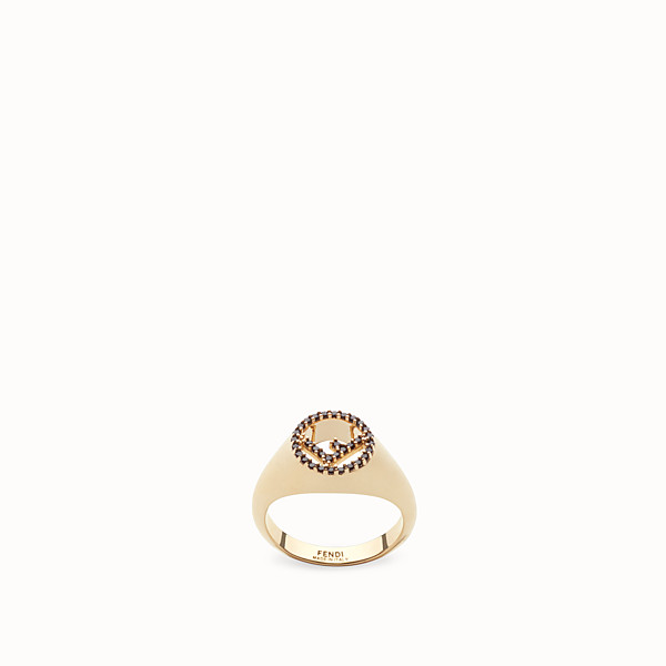 FENDI F IS FENDI RING - Gold-color ring - view 1 small thumbnail