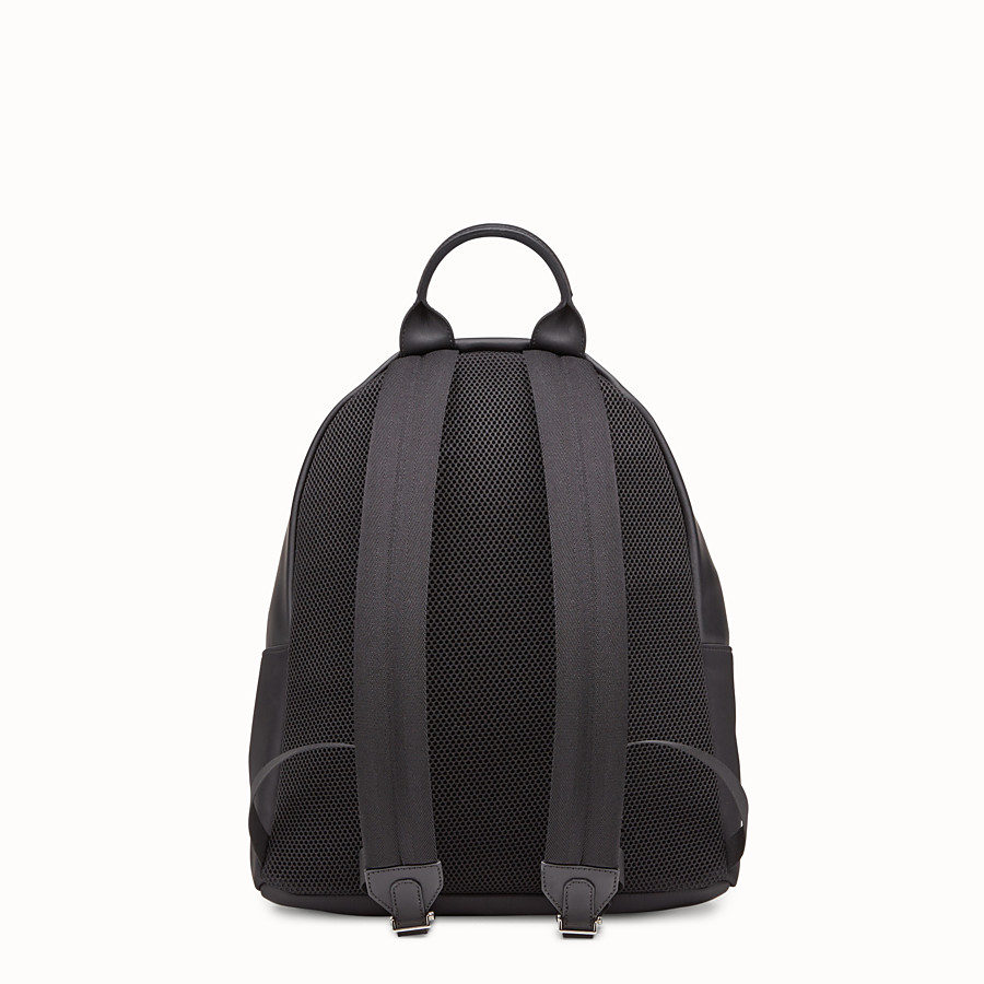 FENDI  - Nylon and leather backpack with inlays - view 3 detail