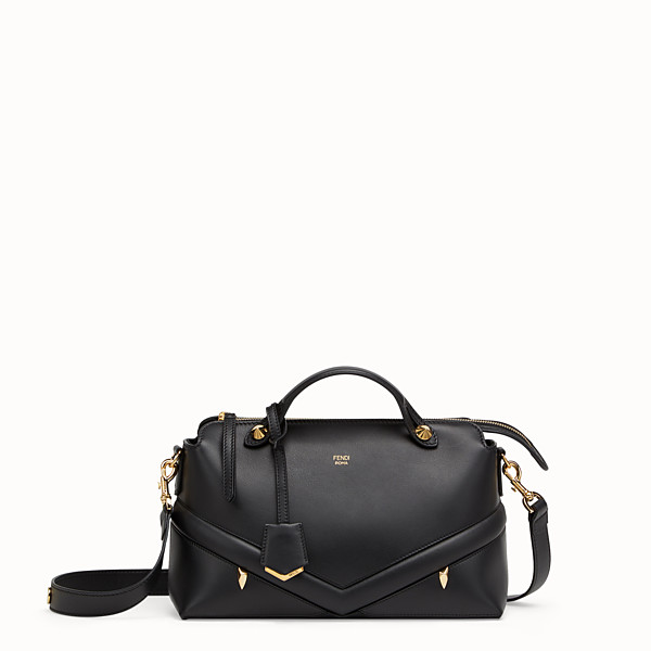 FENDI BY THE WAY REGULAR - Black leather Boston bag - view 1 small thumbnail