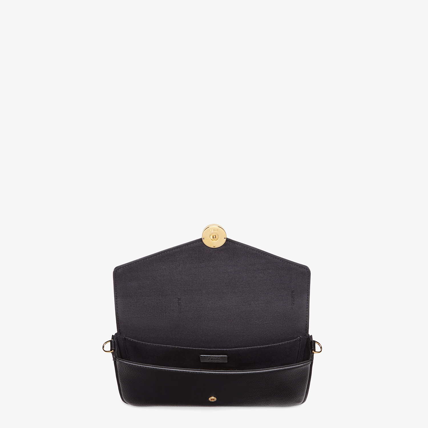 FENDI WALLET ON CHAIN WITH POUCHES - Black leather mini-bag - view 5 detail