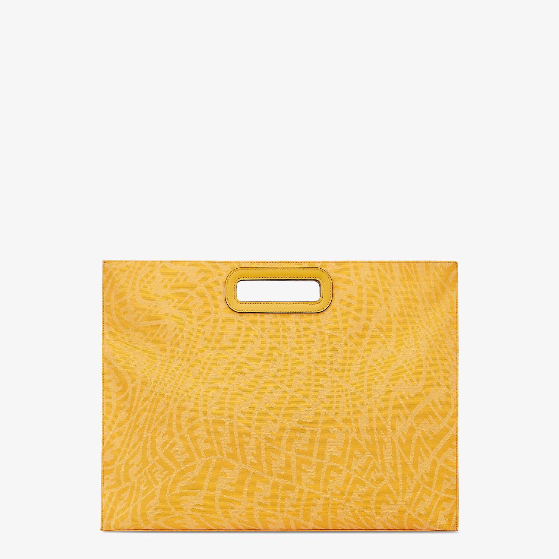 FENDI SHOPPING BAG - Yellow FF Vertigo jacquard shopper - view 1 detail