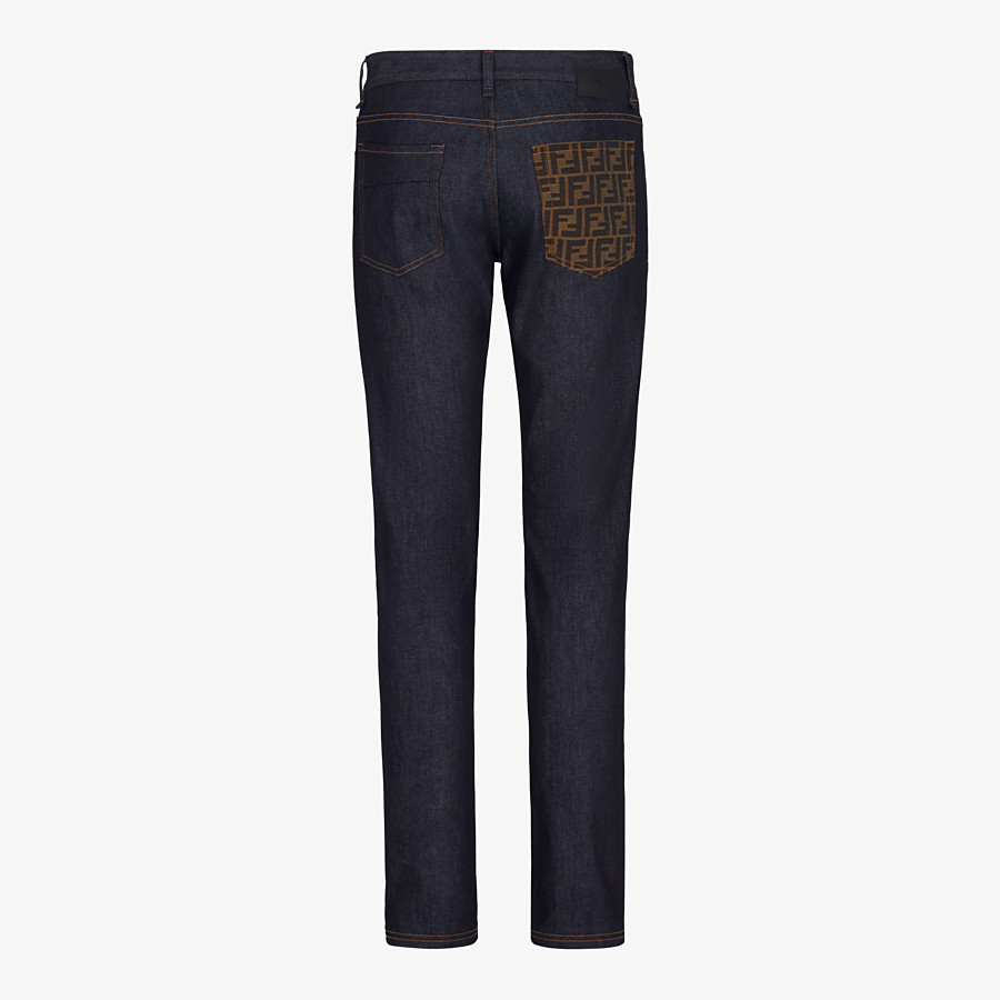 FENDI DENIM - Dark blue denim jeans - view 2 detail