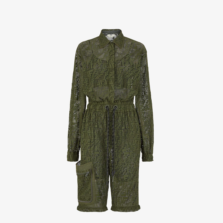 FENDI JUMPSUIT - Green lace jumpsuit - view 4 detail