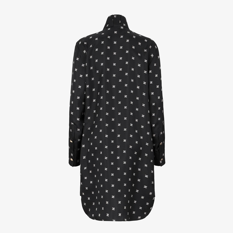 FENDI DRESS - Black twill dress - view 2 detail