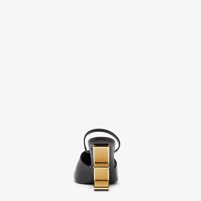 FENDI FENDI FIRST - Black leather high-heeled sandals - view 3 detail
