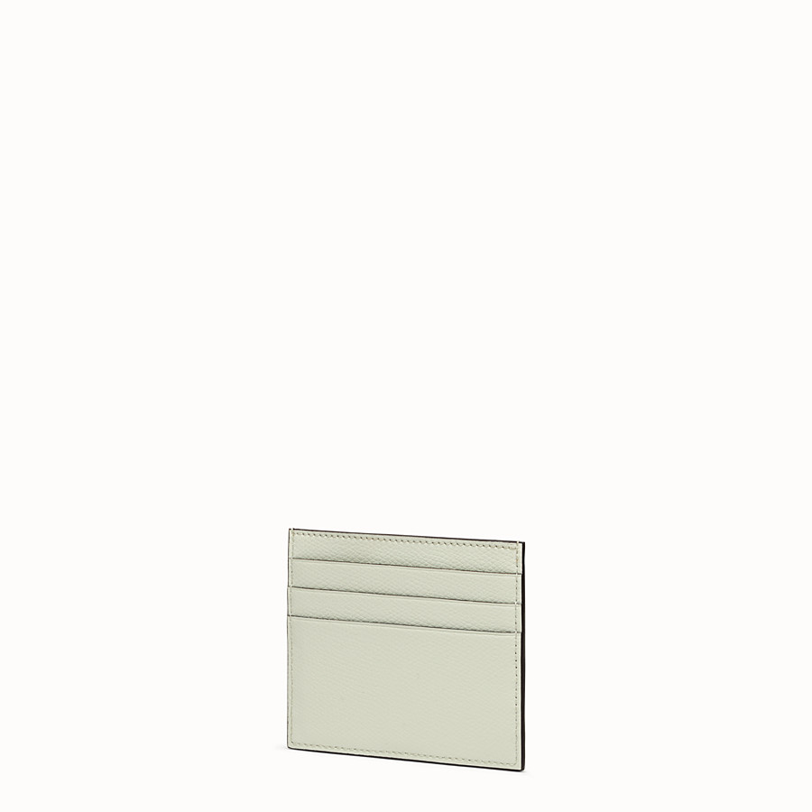 FENDI CARD HOLDER - Green leather flat card holder - view 2 detail