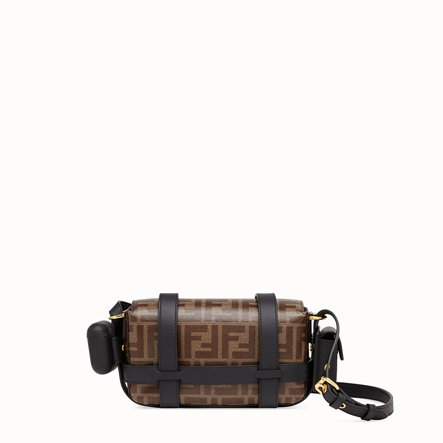 FENDI MINI BAGUETTE WITH CAGE - Multicolor leather and fabric bag - view 5 detail