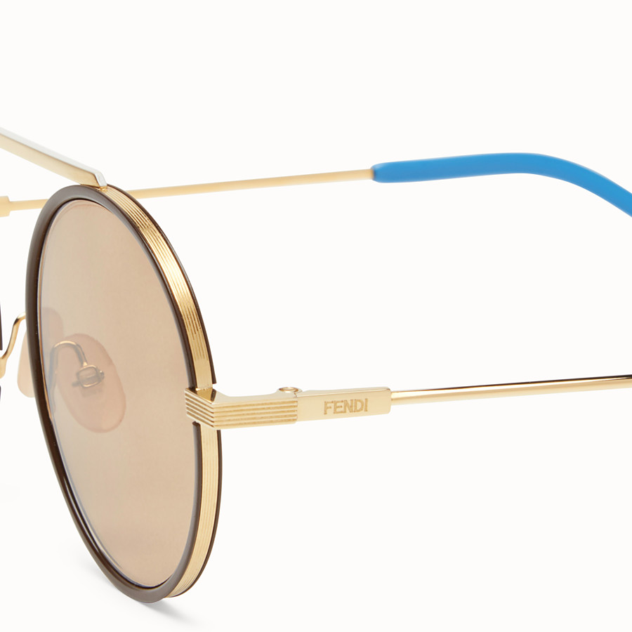 FENDI EVERYDAY FENDI - Gold sunglasses - view 3 detail