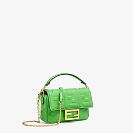 FENDI BAGUETTE - Green nappa leather bag - view 3 thumbnail