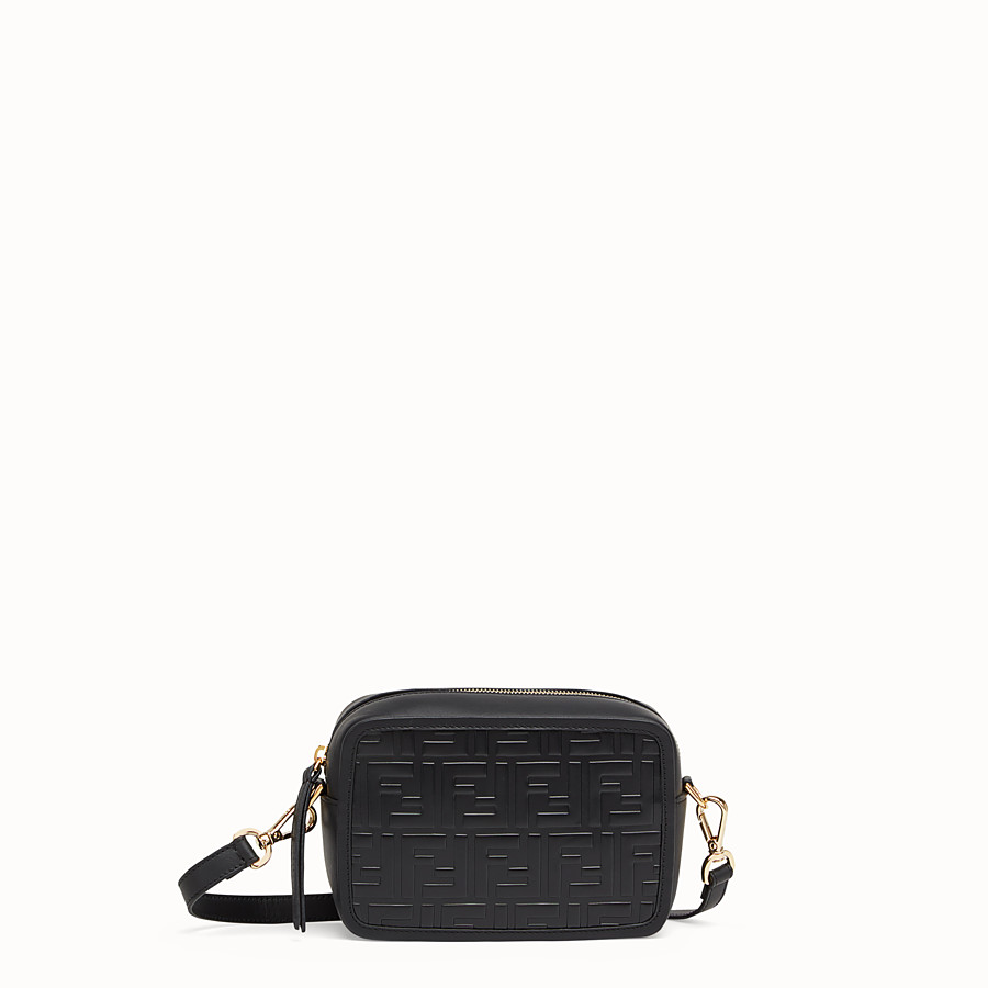FENDI MINI CAMERA CASE - Black leather bag - view 1 detail