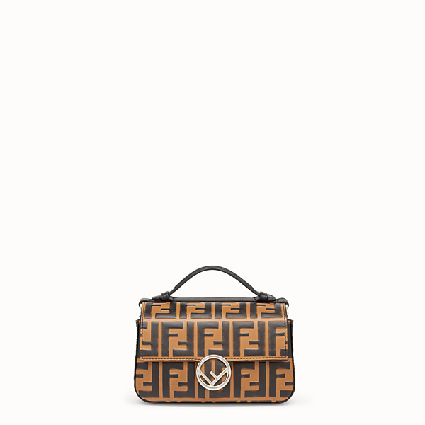 FENDI DOUBLE MICRO BAGUETTE - Multicolour leather mini-bag - view 1 small thumbnail