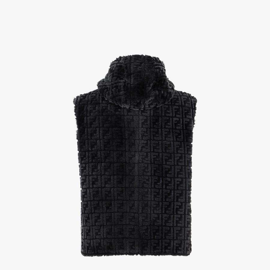 FENDI GILET - Black shearling gilet - view 2 detail