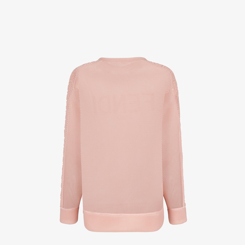 FENDI SWEATSHIRT - Sweatshirt in pink tech mesh - view 2 detail
