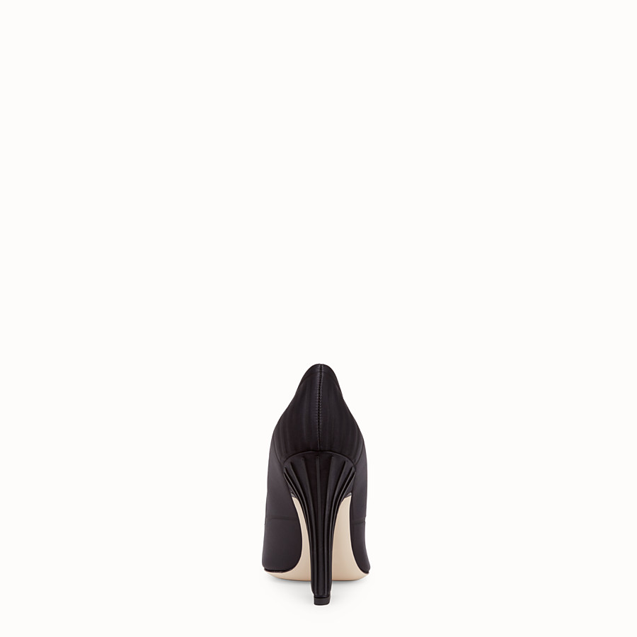 FENDI COURT SHOES - Court shoes in black satin - view 3 detail