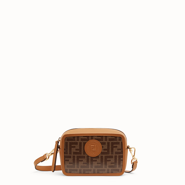 FENDI MINI CAMERA CASE - Blue leather bag - view 1 small thumbnail