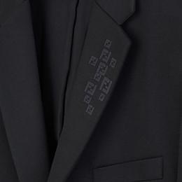 FENDI JACKET - Black jersey blazer - view 4 thumbnail