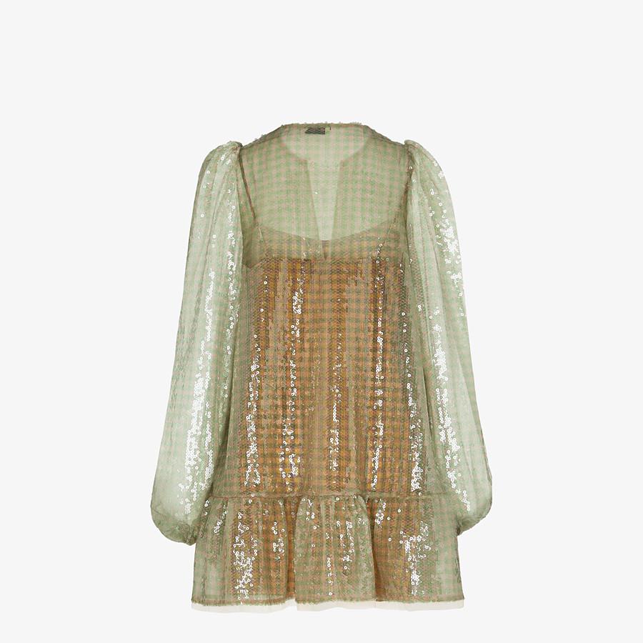 FENDI KLEID - Kleid mit Pailletten mit Vichykaros - view 2 detail