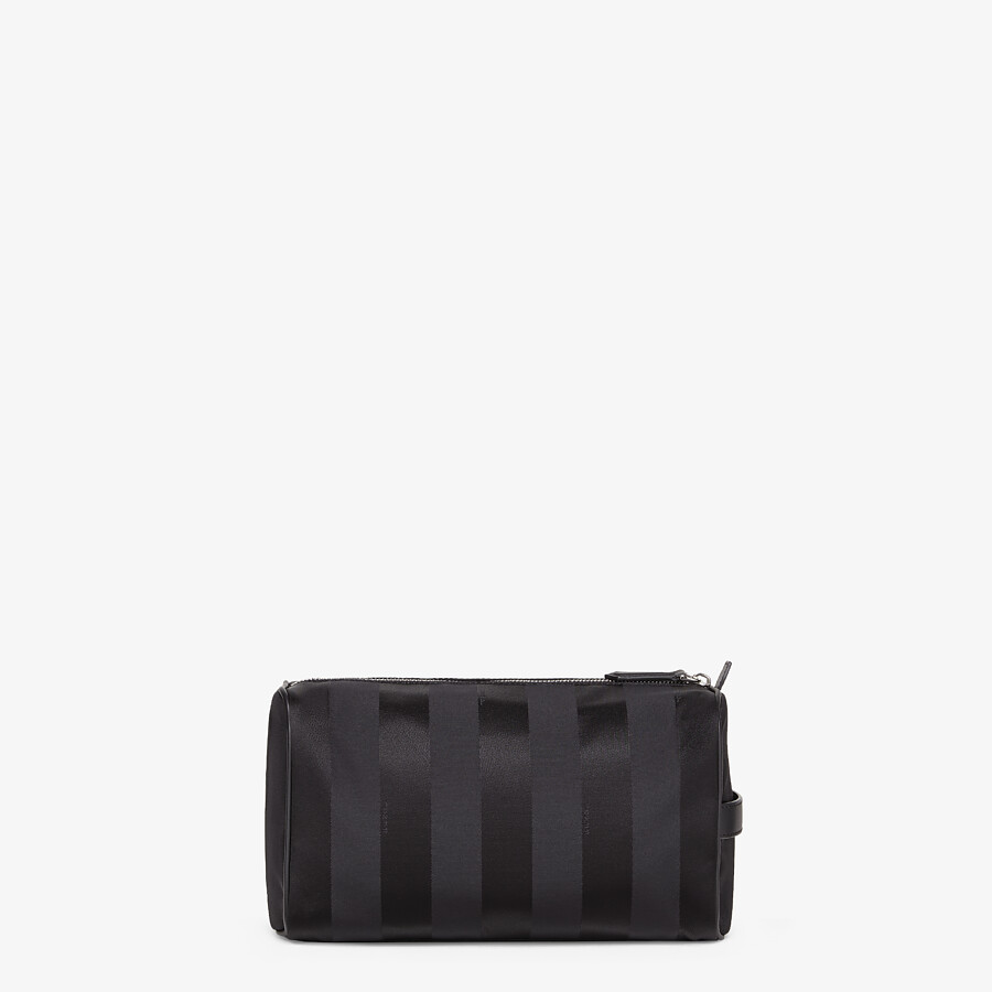 FENDI TOILETRY CASE - Black nylon toiletry case - view 3 detail