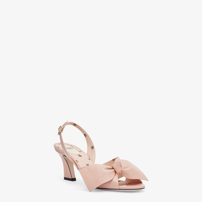 FENDI SANDALS - Pink leather sandals - view 2 detail