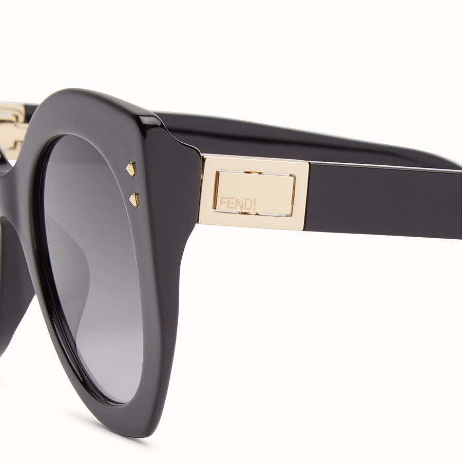 FENDI PEEKABOO - Black sunglasses - view 3 detail