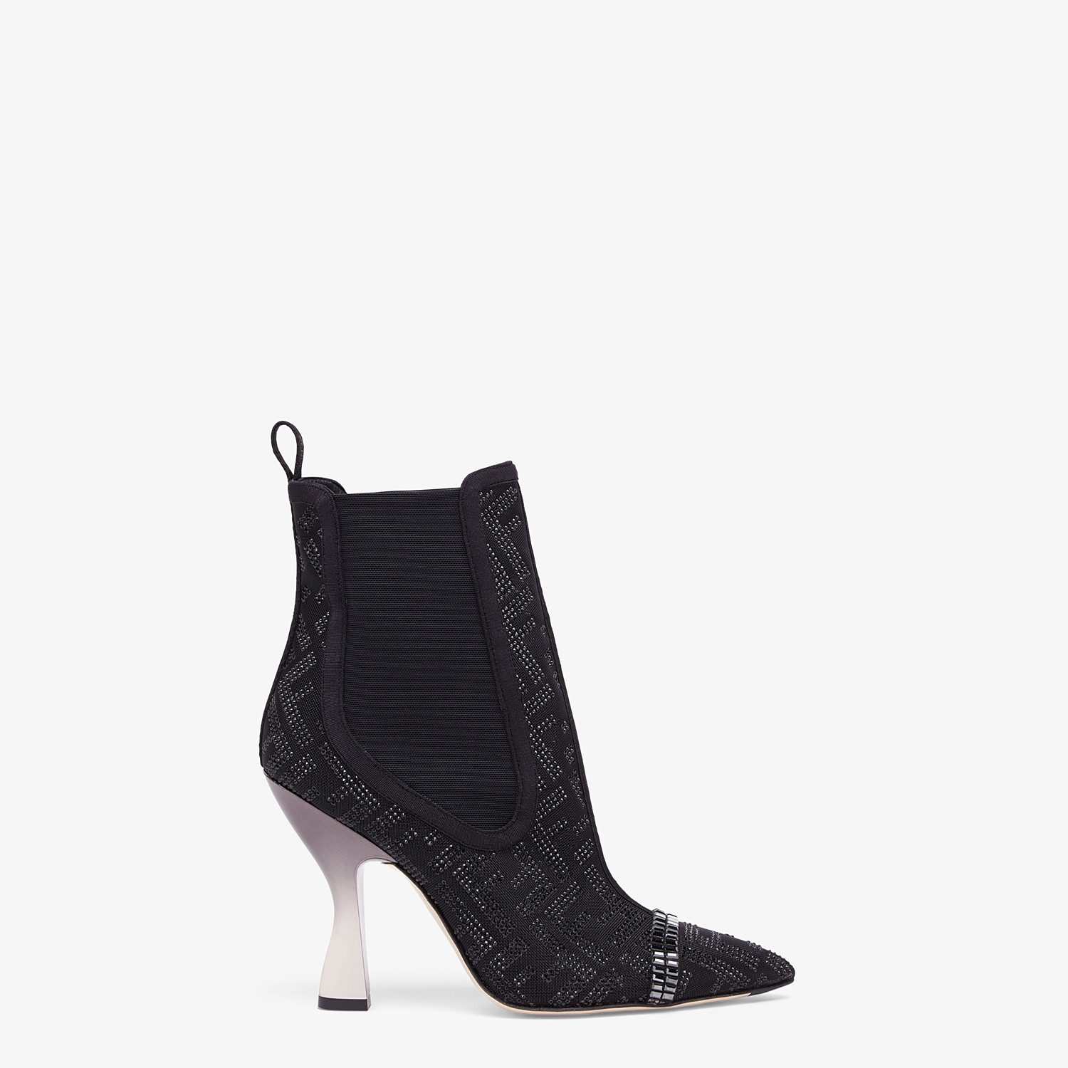 FENDI ANKLE BOOTS - Colibrì in black mesh - view 1 detail