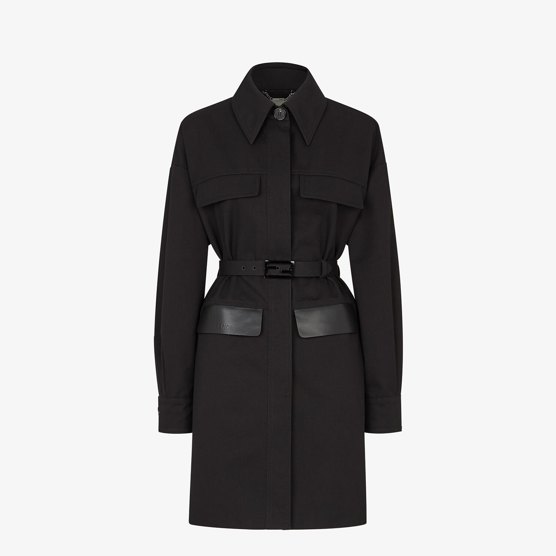 FENDI OVERCOAT - Black cotton jacket - view 1 detail