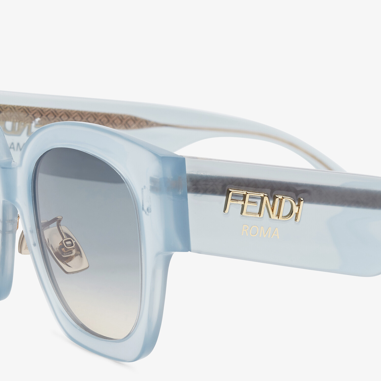 FENDI FENDI ROMA - Light blue acetate sunglasses - view 3 detail