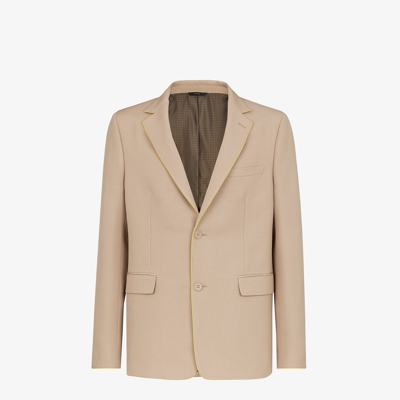 FENDI JACKET - Beige wool blazer - view 1 detail