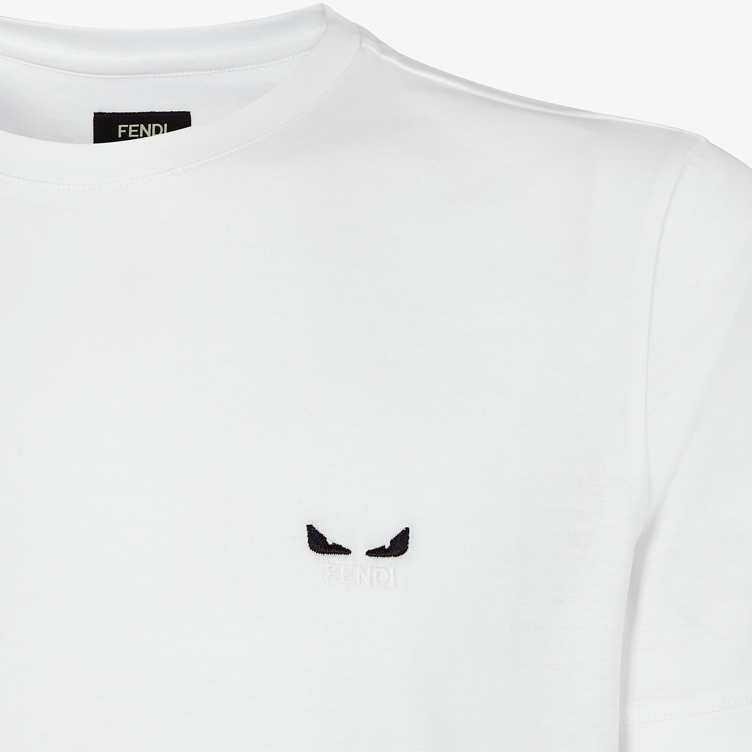 FENDI T-SHIRT - White cotton T-shirt - view 3 detail