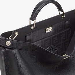 FENDI PEEKABOO ICONIC ESSENTIAL - Black leather bag - view 5 thumbnail