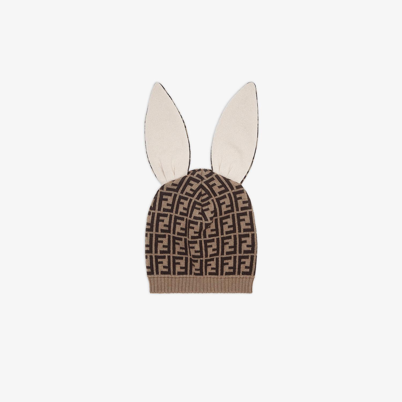 FENDI BABY HAT - FF Logo knit hat - view 1 detail