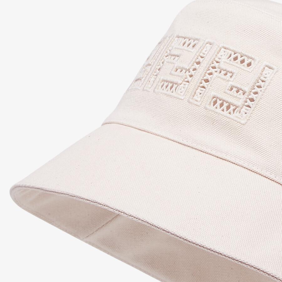 FENDI HAT - Undyed canvas bucket hat - view 2 detail