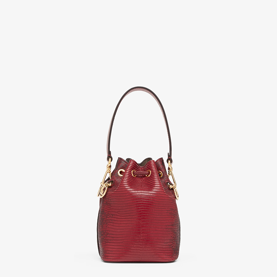 FENDI MON TRESOR - Red lizard skin mini-bag - view 3 detail