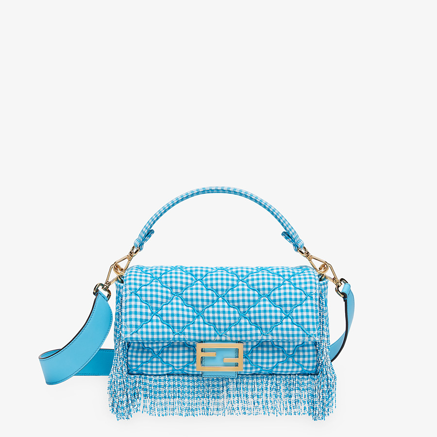 FENDI BAGUETTE - Check fabric bag with beads - view 1 detail