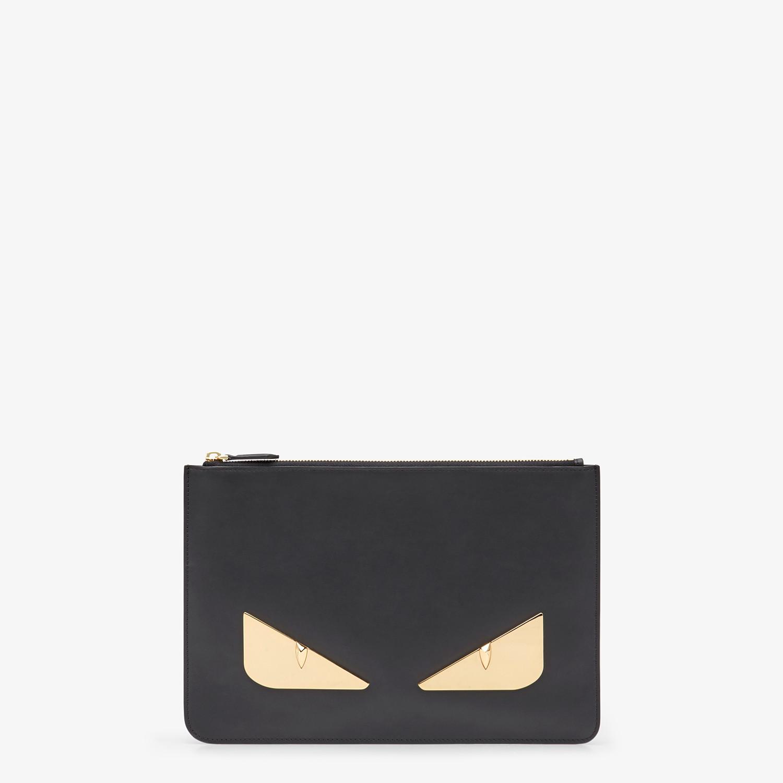 FENDI POUCH - Black leather pochette - view 1 detail