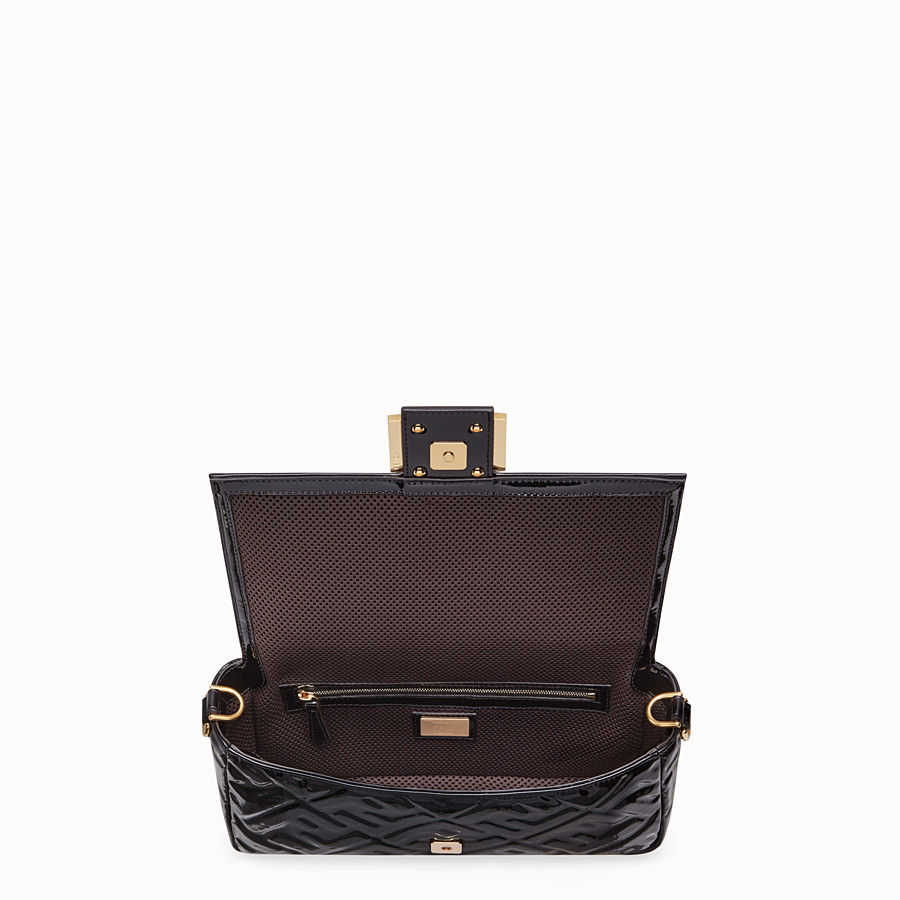 FENDI BAGUETTE - Black vinyl bag - view 5 detail