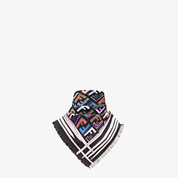 FENDI SCARF - Multicolour silk scarf - view 2 thumbnail