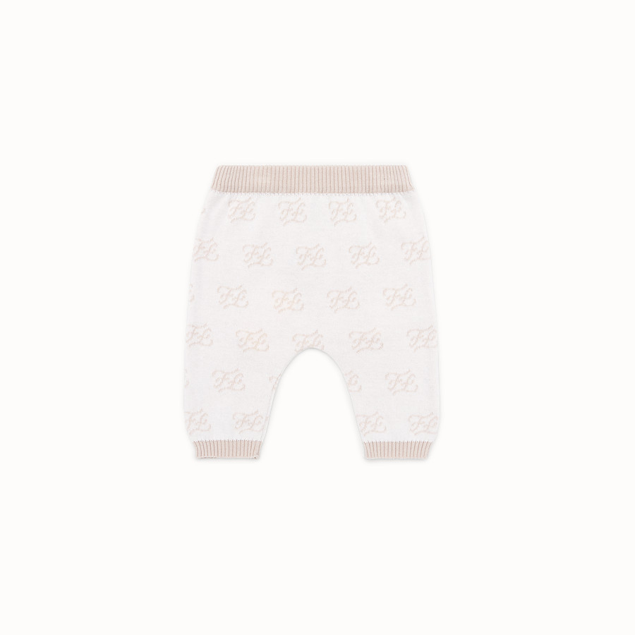 FENDI KNITTED BABY TROUSERS - Knitted baby trousers - view 1 detail
