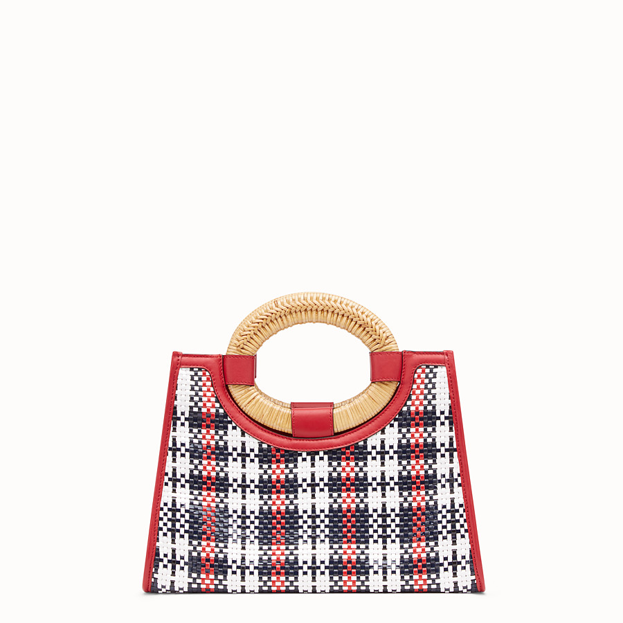 FENDI RUNAWAY SHOPPER - Multicolour braided small shopper - view 3 detail