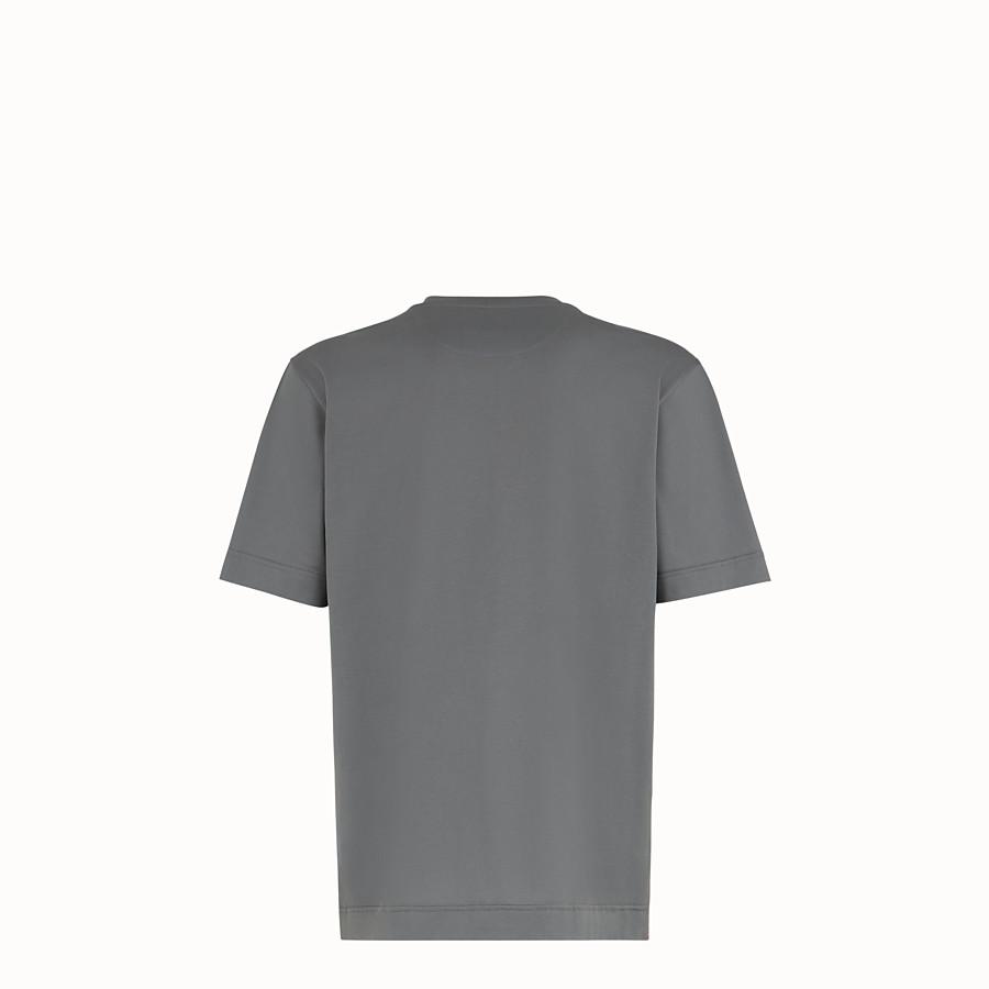 FENDI T-SHIRT - Grey cotton jersey T-shirt - view 2 detail