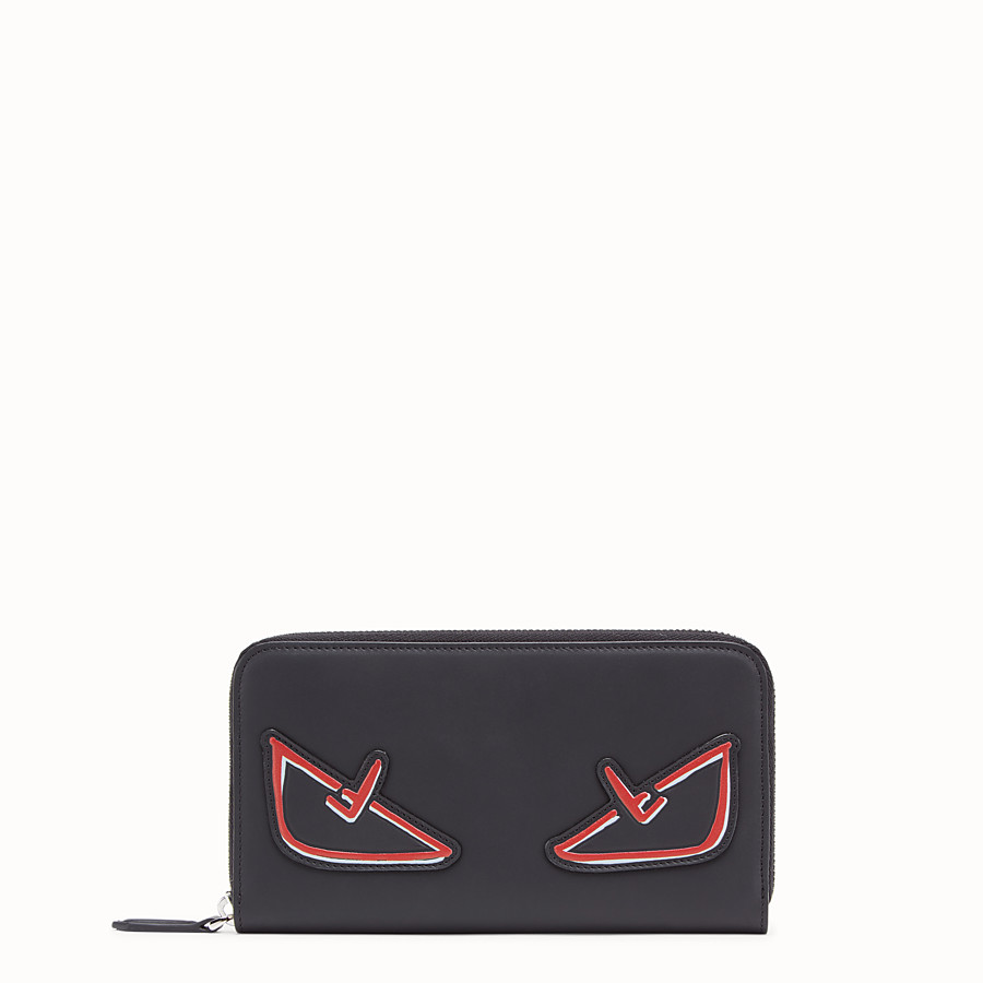 FENDI ZIP-AROUND - Black leather wallet - view 1 detail