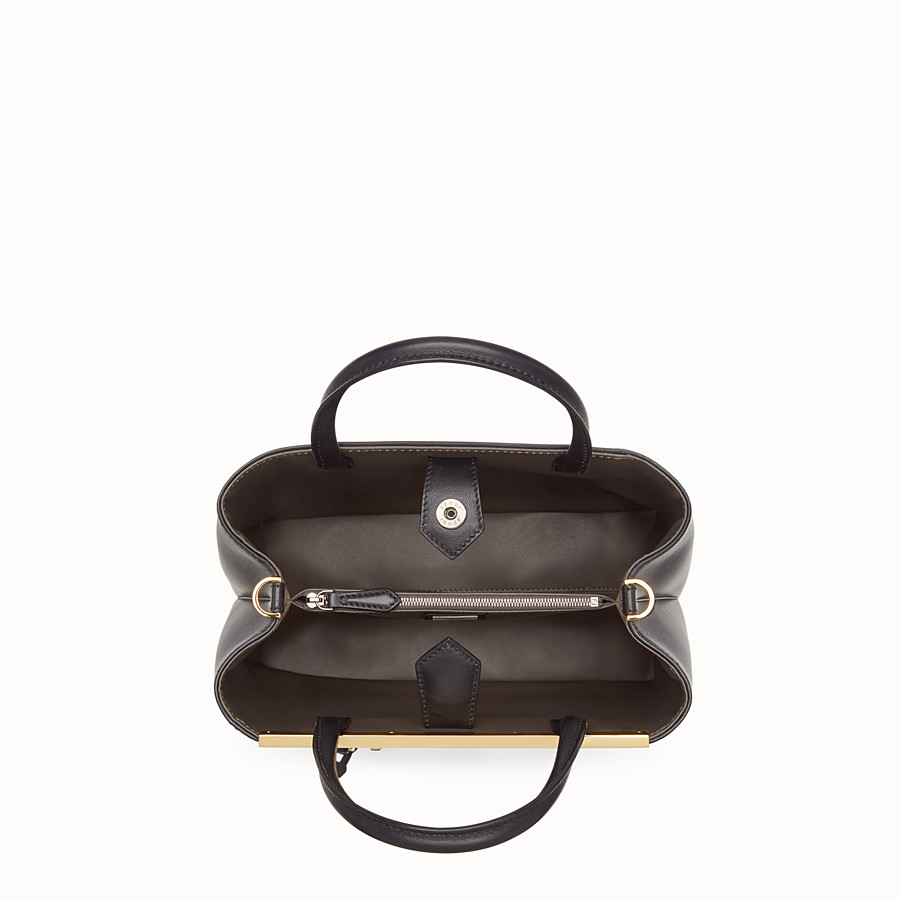 FENDI PETITE 2JOURS - Black leather bag - view 4 detail