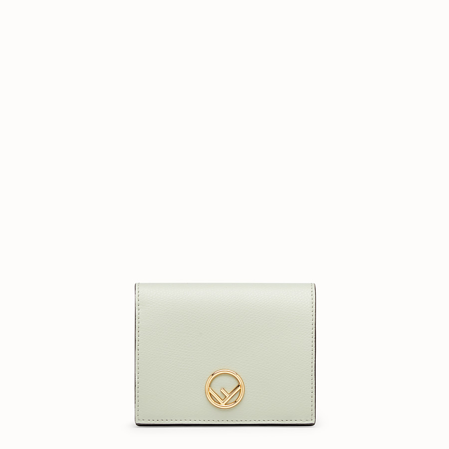 FENDI BIFOLD - Green leather compact wallet - view 1 detail