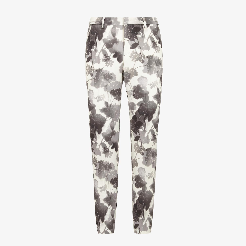 FENDI PANTS - White canvas pants - view 1 detail