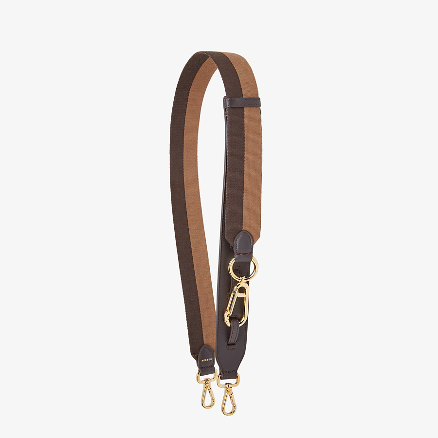 FENDI STRAP YOU - Brown ribbon shoulder strap - view 1 detail