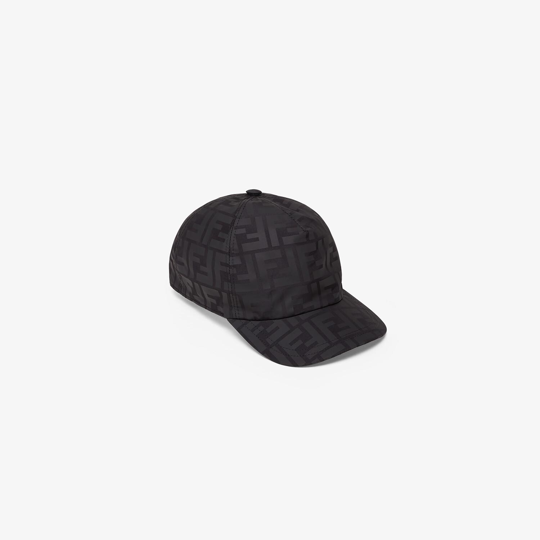 FENDI JUNIOR BASEBALL CAP - Matte black nylon junior baseball cap - view 1 detail