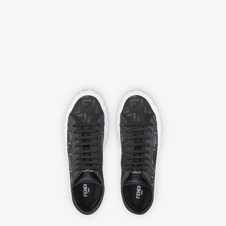 FENDI SNEAKERS - Black fabric high-tops - view 4 detail