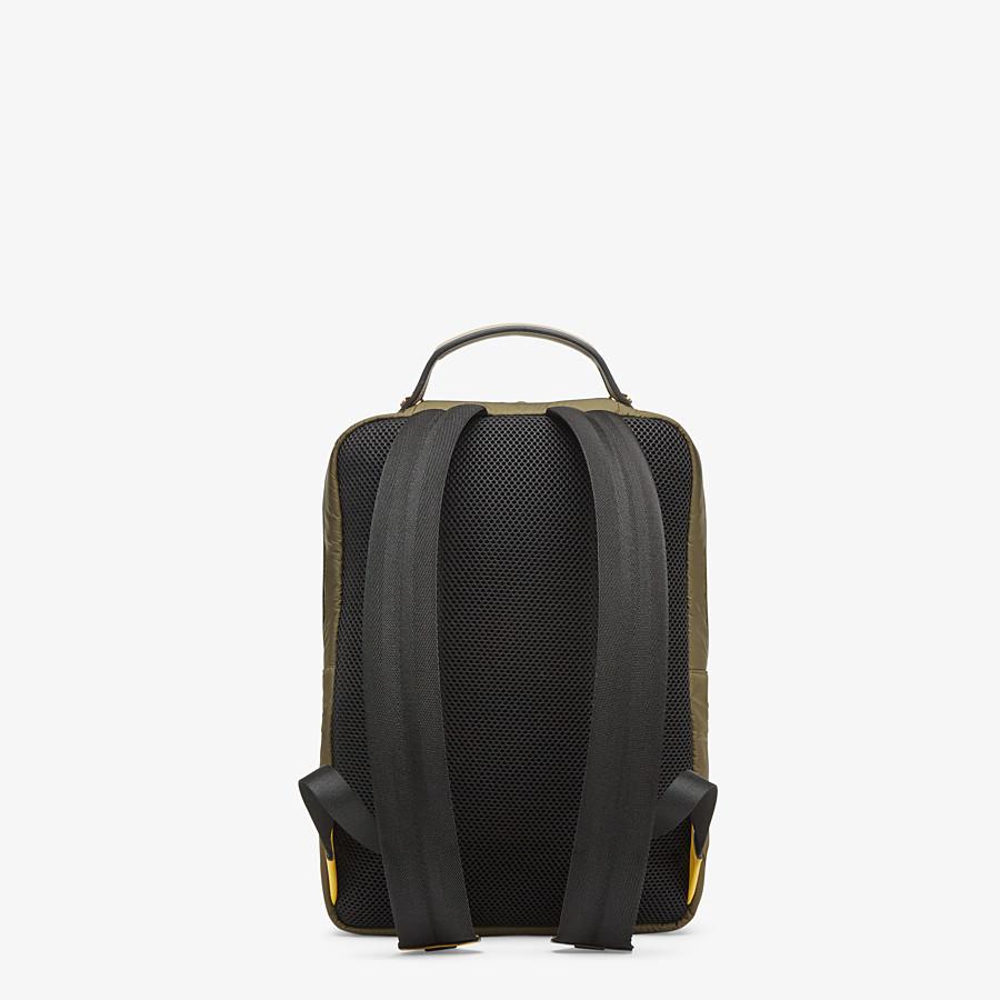 FENDI BACKPACK - Green nylon backpack - view 3 detail