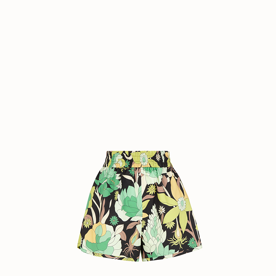 FENDI SHORTS - Multicolour cotton shorts - view 1 detail